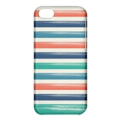 Summer Mood Striped Pattern Apple Iphone 5c Hardshell Case