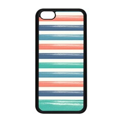 Summer Mood Striped Pattern Apple Iphone 5c Seamless Case (black)