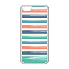 Summer Mood Striped Pattern Apple Iphone 5c Seamless Case (white)
