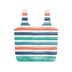 Summer Mood Striped Pattern Full Print Recycle Bags (s)