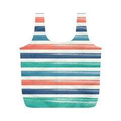 Summer Mood Striped Pattern Full Print Recycle Bags (m)