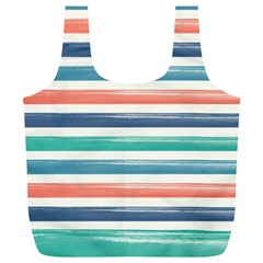 Summer Mood Striped Pattern Full Print Recycle Bags (l)