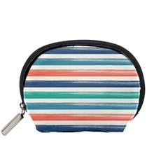 Summer Mood Striped Pattern Accessory Pouches (small)