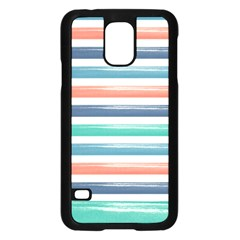 Summer Mood Striped Pattern Samsung Galaxy S5 Case (black)