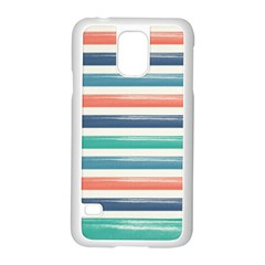 Summer Mood Striped Pattern Samsung Galaxy S5 Case (white)