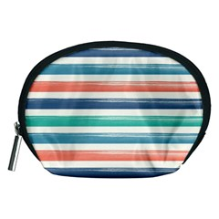 Summer Mood Striped Pattern Accessory Pouches (medium)