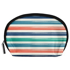Summer Mood Striped Pattern Accessory Pouches (large)