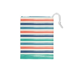 Summer Mood Striped Pattern Drawstring Pouches (small)