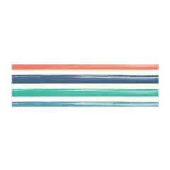 Summer Mood Striped Pattern Satin Scarf (oblong)