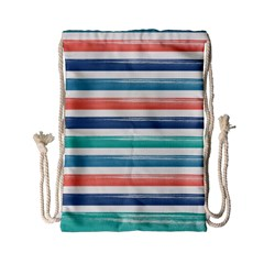 Summer Mood Striped Pattern Drawstring Bag (small)