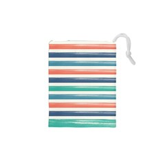 Summer Mood Striped Pattern Drawstring Pouches (xs)