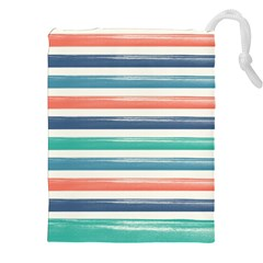 Summer Mood Striped Pattern Drawstring Pouches (xxl)