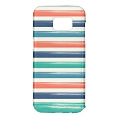 Summer Mood Striped Pattern Samsung Galaxy S7 Edge Hardshell Case