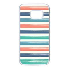 Summer Mood Striped Pattern Samsung Galaxy S7 White Seamless Case