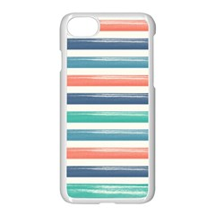 Summer Mood Striped Pattern Apple Iphone 7 Seamless Case (white)