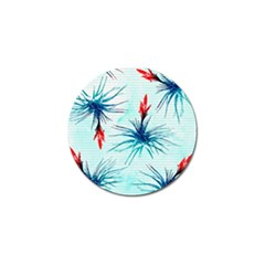 Tillansia Flowers Pattern Golf Ball Marker by DanaeStudio