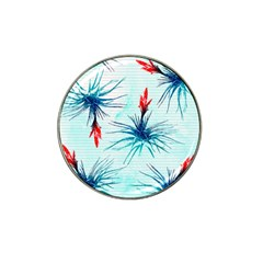 Tillansia Flowers Pattern Hat Clip Ball Marker (4 Pack)