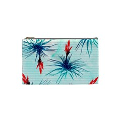 Tillansia Flowers Pattern Cosmetic Bag (small)  by DanaeStudio