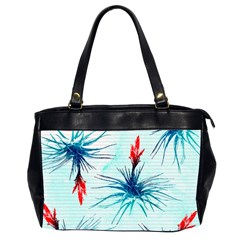 Tillansia Flowers Pattern Office Handbags (2 Sides)  by DanaeStudio
