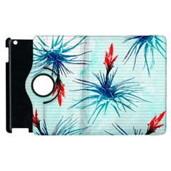 Tillansia Flowers Pattern Apple Ipad 2 Flip 360 Case