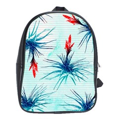 Tillansia Flowers Pattern School Bags (xl)