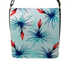 Tillansia Flowers Pattern Flap Messenger Bag (l)