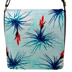 Tillansia Flowers Pattern Flap Messenger Bag (s)