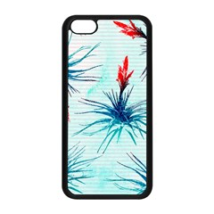 Tillansia Flowers Pattern Apple Iphone 5c Seamless Case (black)