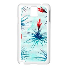Tillansia Flowers Pattern Samsung Galaxy Note 3 N9005 Case (white)