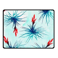 Tillansia Flowers Pattern Double Sided Fleece Blanket (small)