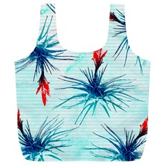 Tillansia Flowers Pattern Full Print Recycle Bags (l)