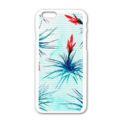 Tillansia Flowers Pattern Apple Iphone 6/6s White Enamel Case