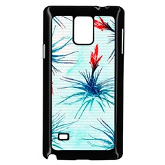 Tillansia Flowers Pattern Samsung Galaxy Note 4 Case (black)