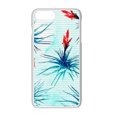 Tillansia Flowers Pattern Apple Iphone 7 Plus White Seamless Case by DanaeStudio