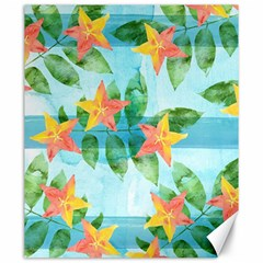 Tropical Starfruit Pattern Canvas 20  X 24   by DanaeStudio