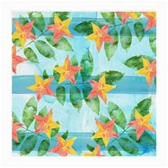Tropical Starfruit Pattern Medium Glasses Cloth (2 Side) by DanaeStudio