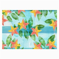 Tropical Starfruit Pattern Large Glasses Cloth by DanaeStudio