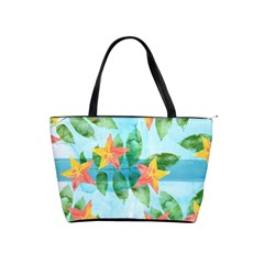 Tropical Starfruit Pattern Shoulder Handbags by DanaeStudio