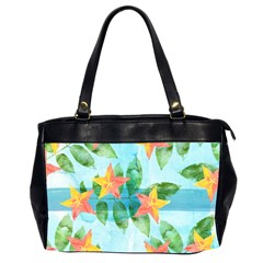 Tropical Starfruit Pattern Office Handbags (2 Sides)  by DanaeStudio