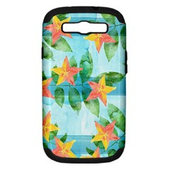 Tropical Starfruit Pattern Samsung Galaxy S Iii Hardshell Case (pc+silicone) by DanaeStudio