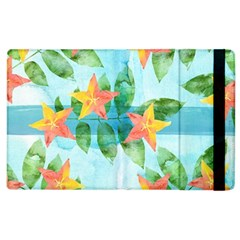 Tropical Starfruit Pattern Apple Ipad 2 Flip Case by DanaeStudio