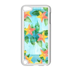 Tropical Starfruit Pattern Apple Ipod Touch 5 Case (white) by DanaeStudio