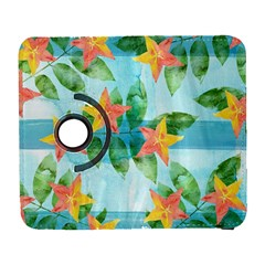 Tropical Starfruit Pattern Galaxy S3 (flip/folio) by DanaeStudio