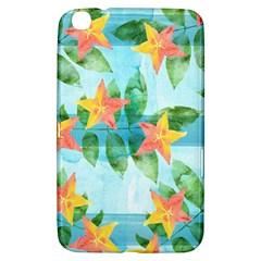 Tropical Starfruit Pattern Samsung Galaxy Tab 3 (8 ) T3100 Hardshell Case  by DanaeStudio