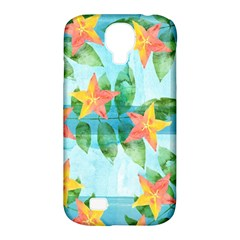 Tropical Starfruit Pattern Samsung Galaxy S4 Classic Hardshell Case (pc+silicone) by DanaeStudio