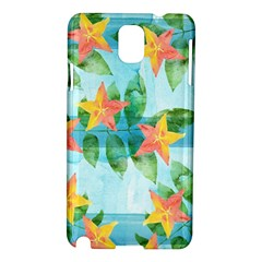 Tropical Starfruit Pattern Samsung Galaxy Note 3 N9005 Hardshell Case