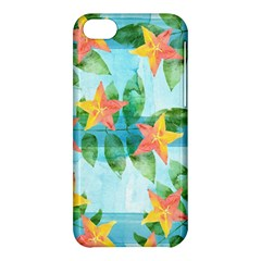 Tropical Starfruit Pattern Apple Iphone 5c Hardshell Case