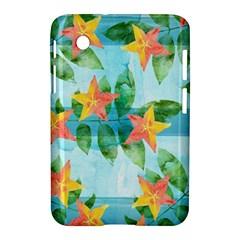 Tropical Starfruit Pattern Samsung Galaxy Tab 2 (7 ) P3100 Hardshell Case