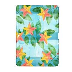 Tropical Starfruit Pattern Samsung Galaxy Tab 2 (10 1 ) P5100 Hardshell Case
