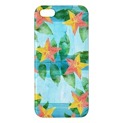 Tropical Starfruit Pattern Iphone 5s/ Se Premium Hardshell Case